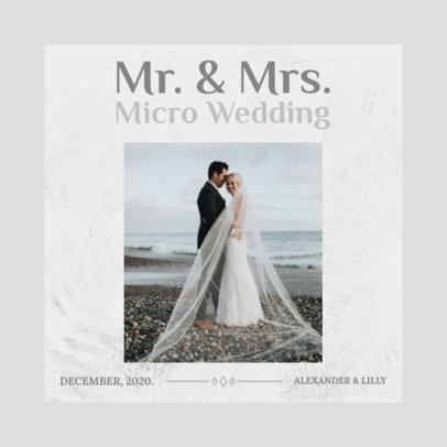 Instagram Post Creator for a Micro Wedding Virtual Invitation 3156b