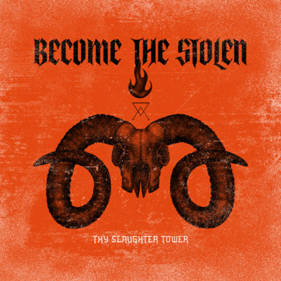 Album Cover Creator for a Heavy Metal Band with a Diabolic Graphic 3145a