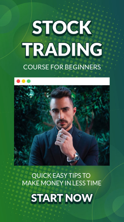 Instagram Story Template for a Stock Trading Beginner's Course 3168b