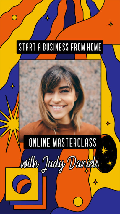Trendy Instagram Story Design Maker for an Online Masterclass 3170d