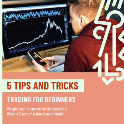 Instagram Post Creator with Trading Tips for Beginners 3169c
