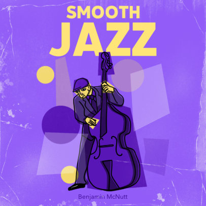 Album Cover Template with Abstract Elements for a Jazz Band 3136e