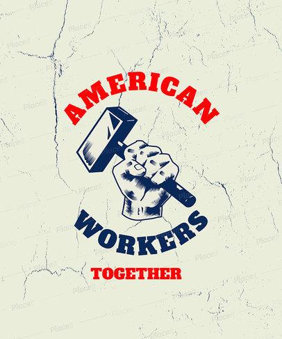 Labor Union T-Shirt Design Template 3179