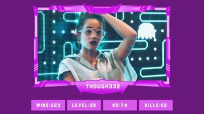 Twitch Overlay Template for Female Gaming Streamers Featuring a Player's Score 3224c-el1