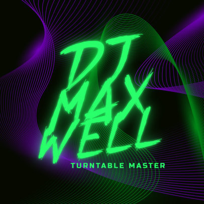 Online Logo Creator for a Professional DJ with Neon Typography 3855k