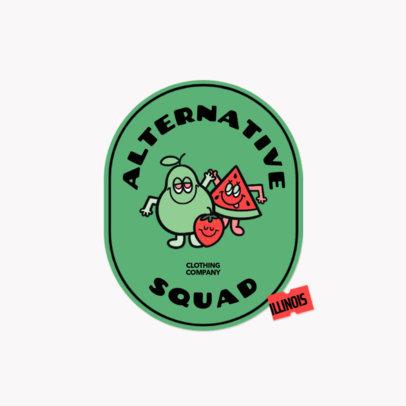 Online Logo Template for an Apparel Brand Featuring Fruit Cartoons 3850d