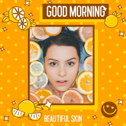 Instagram Post Maker for a Skincare Routine Featuring a Dotted Background Design 3171c