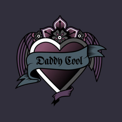 Logo Template for a Clothing Store Featuring a Gothic Heart 3862a