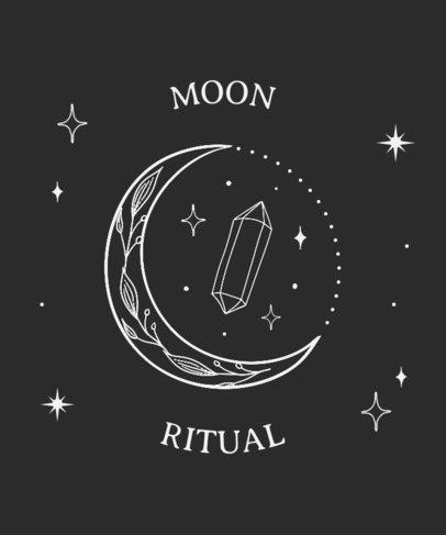 Magic T-Shirt Design Template Featuring a Beautiful Moon Graphic 3232b-el1