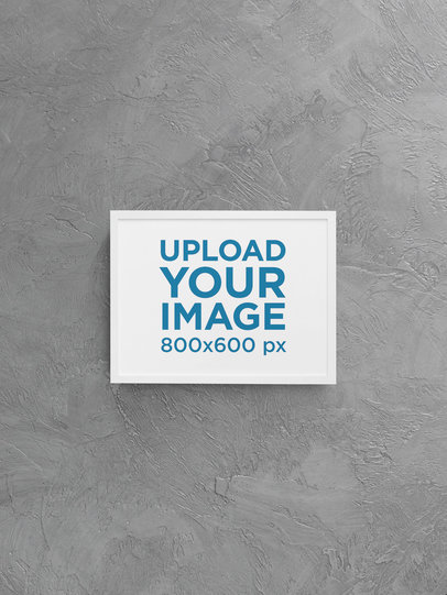 Mockup of a Horizontal Art Print with a Customizable Background m899