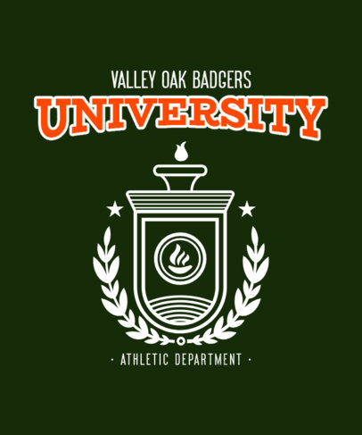 College T-Shirt Design Maker for an Athletics Department 3208a