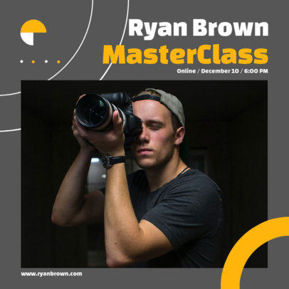 Instagram Post Template to Announce a Photography Masterclass 3248d-el1