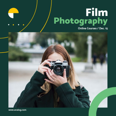 Instagram Post Generator to Promote a Film Photography Course 3248e-el1