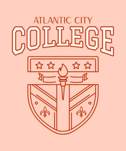 T-Shirt Design Template for a County College 3208b