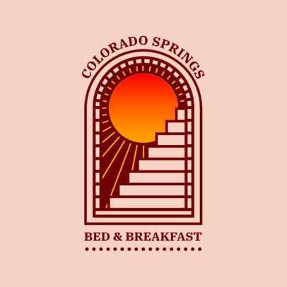 Abstract Logo Template for a Bed & Breakfast Place 3874m