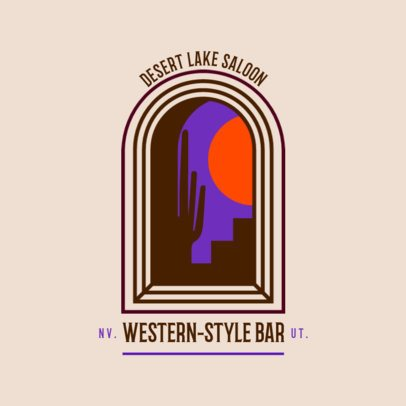 Logo Maker for a Western-Style Bar with an Abstract Graphic 3874n