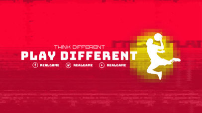 Customizable Twitch Offline Banner Template for a Basketball Enthusiast 3192b