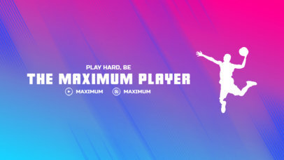 Twitch Offline Banner Template Featuring a Basketball Player Silhouette 3192h