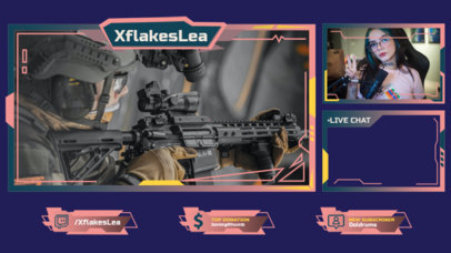 Twitch Overlay Maker for an FPS Games Streamer 3214a-el1
