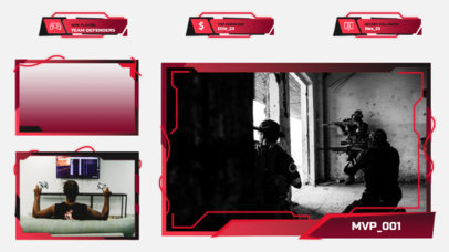 Twitch Overlay Template for Survival Horror Titles Featuring Webcam Frames 3210c-el1