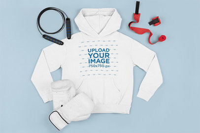 Hoodie Mockup Featuring Boxing Accessories m660