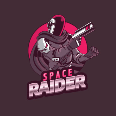 Gaming Logo Maker Featuring a Destiny-Inspired Character from Space 3884f