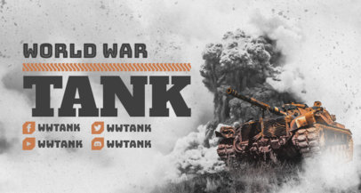 Twitch Banner Design Template Inspired by World of Tanks 3226
