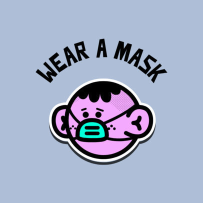Logo Generator Featuring a Cool Illustration Urging to Wear a Mask 3921c
