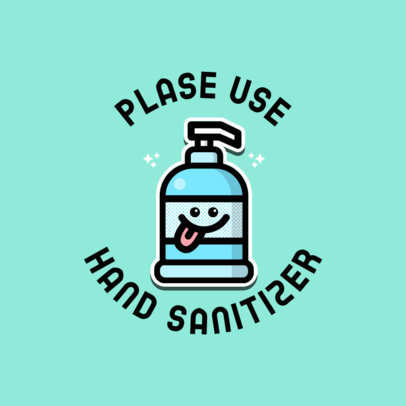 Online Logo Maker Featuring a Cute Hand Sanitizer Icon 3921g