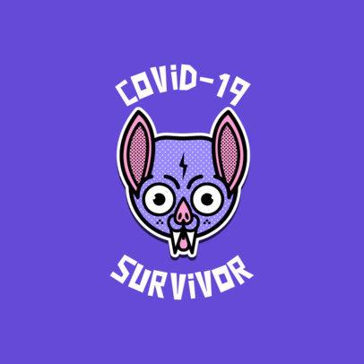 Coronavirus-Themed Logo Maker with a Funny Icon of a Bat 3921i