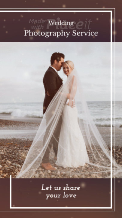 Instagram Story Video Template for a Wedding Photographer's Ad 2579