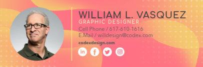 Email Signature Creator for a Graphic Designer 3231c