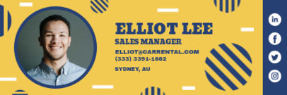 Playful Email Signature Template for a Sales Manager 3232m