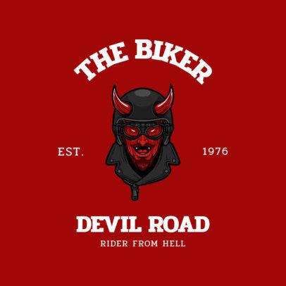 Logo Maker for Biker Clubs Featuring the Devil with a Helmet 3276b-el1