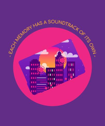 Cool T-Shirt Design Maker Featuring a Phrase and a City Landscape 3227e