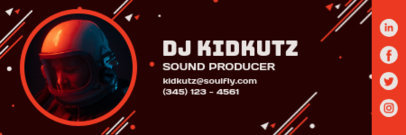 Email Signature Design Creator for a Sound Producer 3232b