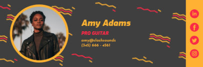 Colorful Email Signature Creator for a Guitar Player 3232f