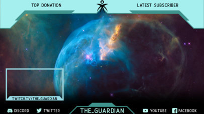 Twitch Overlay Maker for Gamers with a Destiny-Inspired Theme 3222e