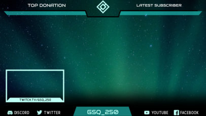 Space-Themed Twitch Overlay Creator Inspired by Destiny 2 3222h