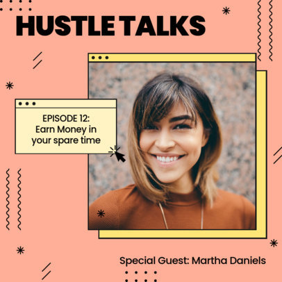 Instagram Post Creator to Promote a Podcast of Hustle Ideas 3235f