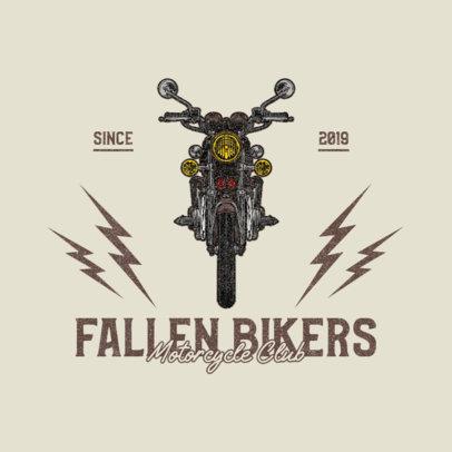 Online Logo Creator for Biker Clubs Featuring an Illustrated Vintage Bike 3270a-el1