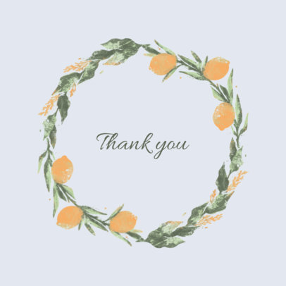 Logo Maker for Weddings Featuring a Thank You Phrase 3918c