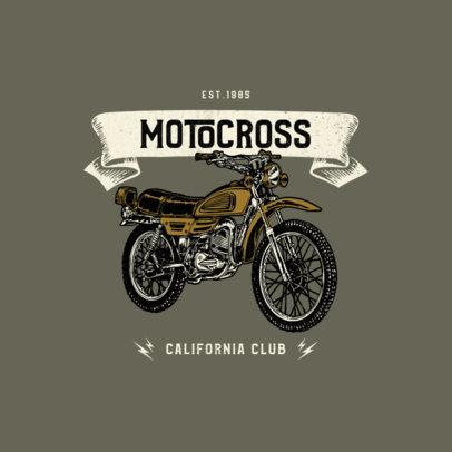 Biker Club Logo Maker Featuring Classic Motocross Bikes 3278-el1