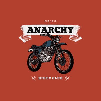 Logo Generator for a Biker Club Featuring an Engraved Bike Graphic 3278c-el1