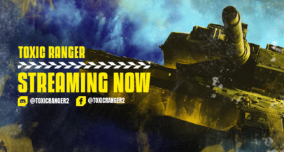 Intense Twitch Banner Generator with a War Tank Picture 3226d