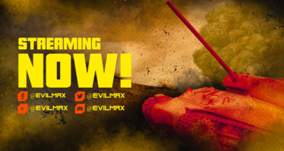 Twitch Banner Creator with Graphics Inspired by World of Tanks For Gamers 3226i
