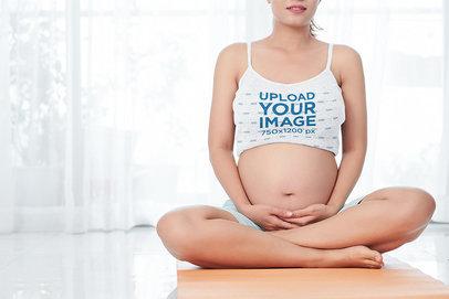 Camisole Tank Top Mockup of a Pregnant Woman Practicing Yoga 36177-r-el2