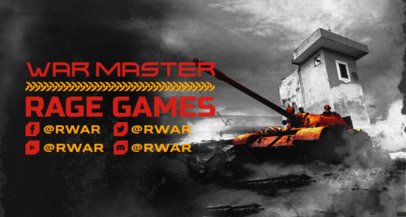 Twitch Banner Design Creator with Graphics Inspired by World of Tanks 3226a