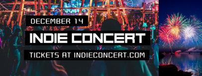 Indie Concert Facebook Cover Maker 1867b