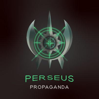 Futuristic Logo Generator Featuring an Emblem with an Alien Aesthetic 3916j